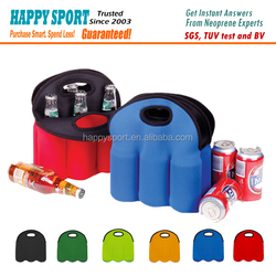 High Quality Neoprene 6-pack Beer/Wine Bottle Cooler/bag with Tote
