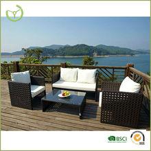 Alta calidad nuevo diseño sintético PE rattan muebles de exterior