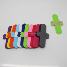 New shape colorful customized logo busines mobile phone stander 3m sticky silicone slap card holder
