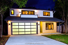 Commercial/Industrial Fast Automatic Aluminium Frame Frosted Glass Panel Security Sectional Garage Door Price