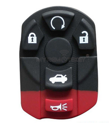 Remote button rubber pad for Cadillac car smart key 4 button with panic
