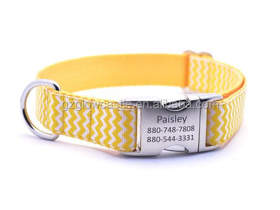 Chevron Stripe Personalized Dog Collar (7).jpg