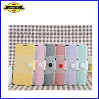 New Arrival Ultra Thin Leather Wallet Case for Samsung Galaxy Note 2 N7100--Laudtec