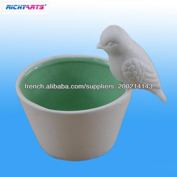 en forme d'oiseau porte-bougie en céramique