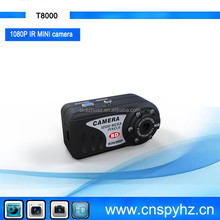 Support high capacity Micro TF card mini DVR with IR night vision digital micro DVR Cam Recorder T8000