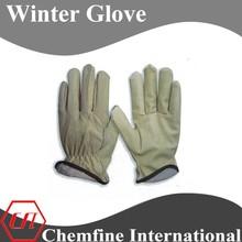 Pigskin men winter driving glove for safety working