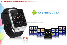 Wireless bluetooth android smart watch MTK6572 dual core cell phone watch android 5.0 mega android watch mobile