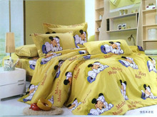 yellow cute minkey baby brushed cotton microfiber cartoon designs organic bamboo 100 cotton bed sheets
