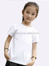 Stocked plain kids t-shirt wholesale, child t-shirt printing