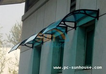 Aluminum door canopy, easy install polycarbonate awning