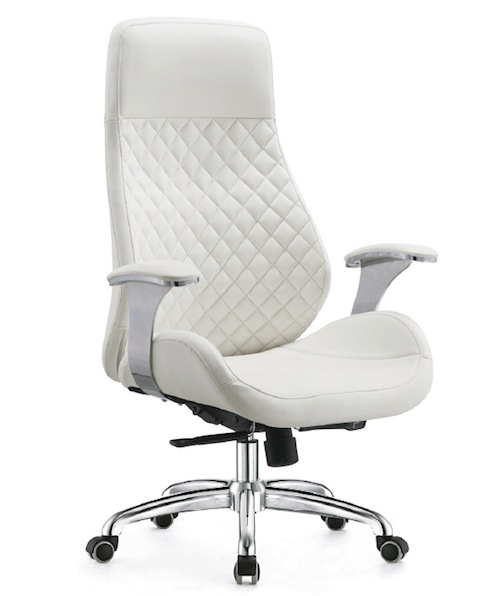 white executive chair office chair high back leather office chair