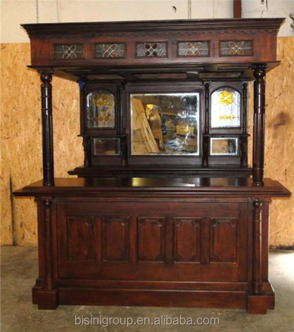 victoriana de estilo antiguo tallado muebles de bar barra de casa de madera para pub with barras de madera para bar