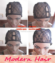 Hot sale top quality wig making caps ,adjustable lace cap for wig making, net u part wig cap