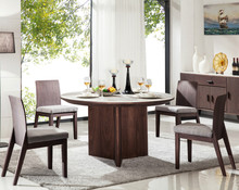 2015 hot sale high quality round marble top dining set,mdf wooden dining room furniture,solid wood dining table