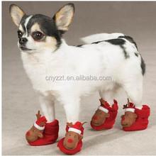 Plush Christmas Reindeer Slipper For Dog Wearing
