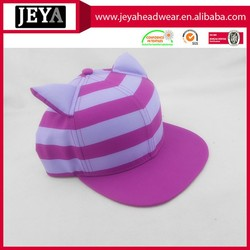 Cute Style Cheshire Cat Cap Snapback Cap With Stand Up Ears Customize Sublimation Full Logo Wholesale