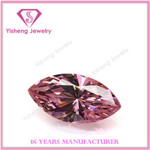 AAA MS Navete Shape Faceted Shiny Lab Created Pink CZ Diamond