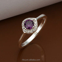 2015 Wholesale charming amethyst gemstone finger ring