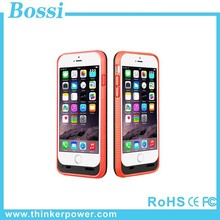 Hard plastic hot sale portable power bank case 3600mAh solar power system mobile phone charger case for iPhone 6