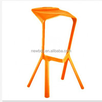 Italian design whole plastic stacking bar stool with foot rest