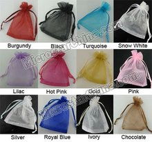 Customized Logo Organza Bag For Gift Jewelry Cosmetic