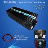 Off Grid Pure Sine Wave Solar Power Inverter DC 12V 24V 48V To AC 110V 220V 230V Converter 6KW