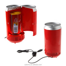 USB PC Mini Fridge Refrigerator Beverage Drink Cans Cooler & Warmer