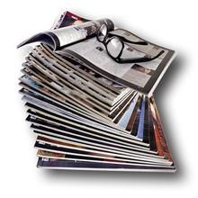 A4 softcover fashion men's magazine