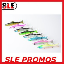 10 Colors Minnow Lure Three Section Hard Plastic Minnow Fishing Lure
