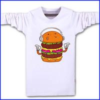 long sleeve rubber printing 100% cotton custom t shirt wholesale t shirt