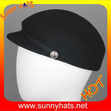 Simple polo hats wool felt hats from factory