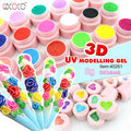Salão de beleza barato profissional modelagem 3D gel / soak off prego UV gel kit 40261 h