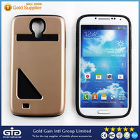 3rd Generation Case ,TPU+PC Case For Samsung For Galaxy S4 ,case with card slot