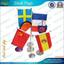 Aluminum flagpole and base Desk flags