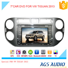 7 inch fixed digital panel car DVD player for VW TIGUAN 2013 with GPS TV and bluetooth
