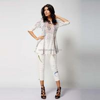 2015 latest OEM fashion design see-through tunic body-corn T-shirts for girls