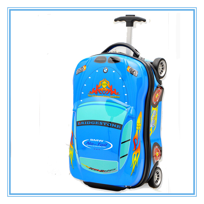 ABS and PC 18 inches travel school 3D carton car kids trolley school luggage bag