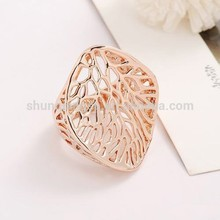 China ring of smooth copper decoration gold plated Ring