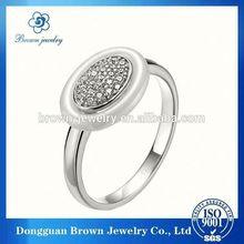 Alta calidad anillo de plata con blue diamond para la madre