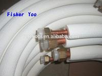 coiled 24000 BTU air conditioner copper aluminum connecting tube pipe price
