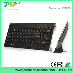 Brand new high quality computer accessories ultra-thin 2.4g wireless keyboard and mouse combo for hisense smart tv KM909