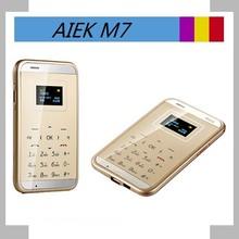 AIEK M7 Card Mobile Phone 4.5mm Ultra Thin Pocket Mini Phone Dual Band Low Radiation Card phone