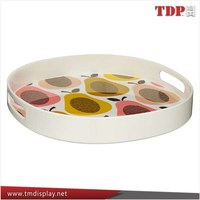 Wholesale Colorful Acrylic Serving Trays and Round Bar Serving Trays