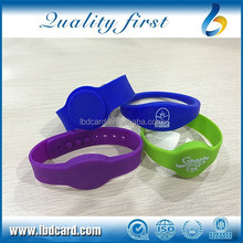 Waterproof Sillicone MF S50 + TK4100 RFID Wristband/ Bracelet for Swimming Pool