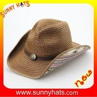Fashion Summer Ladies Newest Style Make A Paper Cowboy Hat Wholesale