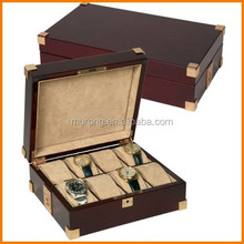 8slot antique wood watch chest