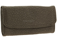 Kingstar custom 3 fold real leather women wallet&wallet bag