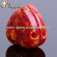 Wholesale Heart Kyocera Flame opal for Opal Pandant