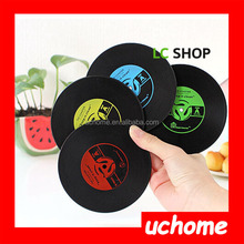 UCHOME silicone cup pads,silicone coaster,anti-slip small silicone pad mat