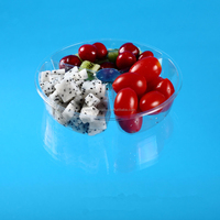 disposable take away plastic fruit salad bowl with lid